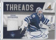 2011-12 Pinnacle Threads #26 Jonas Gustavsson Toronto Maple Leafs Hockey Card