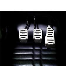 3PCS Aluminum Non-Slip Automatic Car Brake Accelerator Pedal Pad Cover Set LD