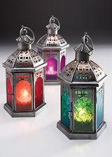 Moroccan Tonal Glass Lantern small and large