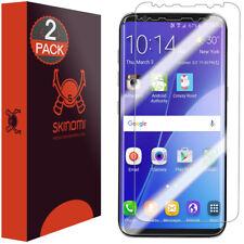 2x Skinomi TechSkin Screen Protector for Galaxy S8 Case Friendly & Edge to Edge