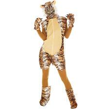 Tiger Kostüm Frauen Männer Karneval Fasching Halloween Safari Asien Afrika