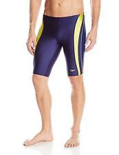 Speedo POWERFLEX Men's Rapid Splice Jammer Shinny Swimsuit  2 Colors Retail $49