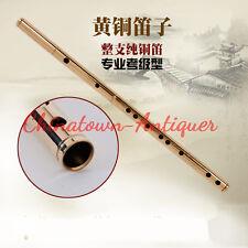 New Copper Bamboo flute Dizi, Chinese vertical bamboo flute C,D,E,F,G Key #3739