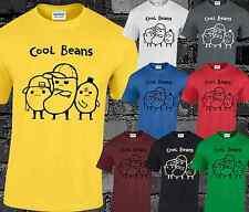COOL BEANS Mens T Shirt FUNNY CARTOON scherzo commedia Top Regalo Idea Hipster