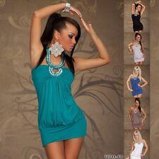485 SEXY CLUBBING PARTY HALTERNECK MINI DRESS/TUNIC M/L UK 10/12 EU 38/40