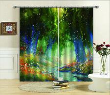 3D Tree Painting Blockout Photo Curtain Printing Curtain Drapes Fabric Window CA