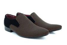 Hombre Classique Lami Elegante Zapatos de Vestir sin Cordones Marrón / Negro
