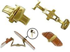 Butterfly-Schließe  aus Edelstahl-für Armbänder gold  16mm 18mm 20mm 22mm