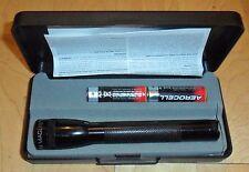 Mini Maglite 2A Neuwertig, Box, 2.Variante+Lederholster Polizei Taschenlampe AA