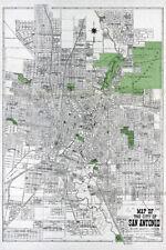 1924 Map of San Antonio Bexar County Texas