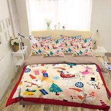 3D Christmas Element 521 Bed Pillowcases Quilt Duvet Cover Set Single Queen Ca