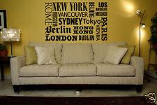 New York Wall Decal, New York Wall Art, Travel Wall Decal, Wanderlust Decal
