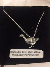 Goose R162 Emblem on a 925 Sterling Silver Necklace 16,18,20,26,30