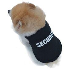 Black Warm Pet Dog Cat Clothes Coat Puppy Apparel Outfit Vest Quote Security NEW