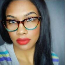 Cat Eye Gradient Tortoise Blue Pink Frame Clear Lens Women Eyeglasses Glasses