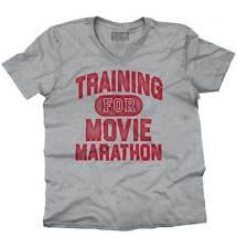 Training Movie Marathon Binge Watching Netflix Funny Quote V-Neck T-Shirt