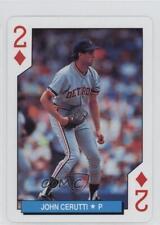 1992 US Playing Card Detroit Tigers Box Set Base #2D John Cerutti Baseball