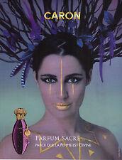 PUBLICITE ADVERTISING  2010   CARON   le parfum SACRE