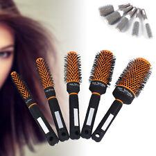 Pro Women Hair Brush Ceramic Iron Round Comb Barber Dressing Salon Styling Kits