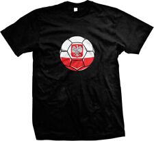 Poland Soccer Ball Pride Polish Polska Bialo-czerwoni Biale Orly Mens T-shirt