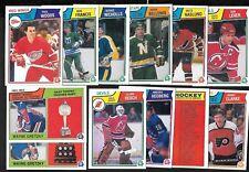 1983-84 OPC O PEE CHEE NHL HOCKEY CARD 133-264 SEE LIST