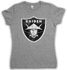 Oakland Raiden logotipo señora villana t shirt-los angeles mortal NFL raiders Kombat