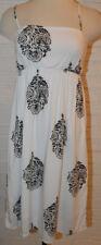 Women's Old Navy Maternity White & Black Geo Medalliion Ltwt. Slip On Dress XL