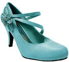 New women's shoes synthetic flower rhinestones stilettos pumps prom light blue