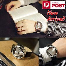 NEW Wristwatch Luxury Unisex Triangle Simple PU Leather Analog Quartz Hot Gift