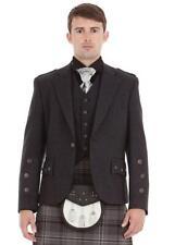 """Men's Wool Tweed Scottish Kilt Jacket with Waistcoat - Sizes 36""""- 54"""""""