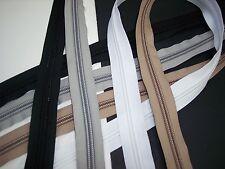 YKK #10 Coil Zipper & Slider WHITE BLACK BEIGE GRAY Marine Windows Outdoors 10CF