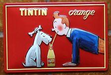 """""""TIM UND STRUPPI"""" TinTin, Blechschild mit PRÄGUNG, NEU!"""