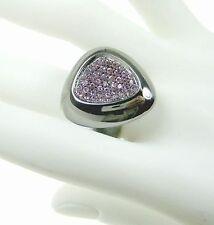Roberto Coin 6.25 Capri Plus Polish Silver Pink Rhodolite Ring Women Lady Gift