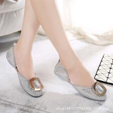 bailarinas mocasines zapatos de mujer cómodo plata suave como piel 9803