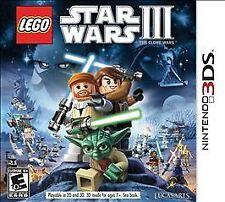 LEGO Star Wars III 3: The Clone Wars (Nintendo 3DS) XL 2DS *MINT*COMPLETE*war