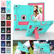 Kids Armor Heavy Duty Rugged Rubber Kickstand Case For iPad mini/234/Air/Pro/9.7