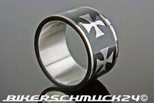 Iron Cross Ring Eisernes Kreuz Biker Bandring Edelstahl sehr breit XL Geschenk