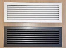 Stahl Gitter Lüftungsgitter Luftgitter Kamingitter 5 Größen in Weiß oder Graphit