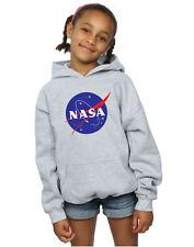 NASA Bambine e ragazze Classic Insignia Logo Felpa Con Cappuccio