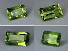 Natural Peridot Gemstone Loose Octagon Rectangle Best Pakistan Green Many Sizes