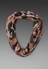NWT TOLANI Brand Hollywood Celebs Camo Infinity Soft Neck Wrap Scarf B Brown