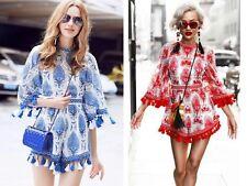 New Women Ladies Summer Holiday Bell Sleeve Pineapple Print Jumpsuit Playsuit