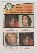 1976 O-Pee-Chee 387 Bill Hogaboam Tim Young Dennis O'Brien RC Rookie Hockey Card