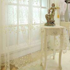 Long Vintage Lace Voile Curtain Panel Embroidery Net Window Drape Divider