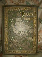 Feuillets Glanés.Poésies inédites.20 eaux-fortes.Boilvin,Brunet-Debaines,Flameng