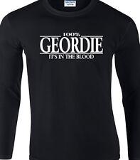 Geordie Tshirt pour hommes longues manches - 100% Geordie Newcastle cadeau