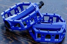 """Blue Platform Bike Pedals 1/2"""" Vintage Schwinn Cruiser Old School BMX Bicycle"""