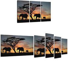 Kunstdruck Elefanten auf Leinwand aufgespannt Bild gerahmt neu Design 1509 D2