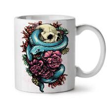 Snake Art Rose Dead Skull NEW White Tea Coffee Mug 11 oz   Wellcoda