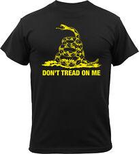 Black Don't Tread On Me Gadsen Snake T-Shirt